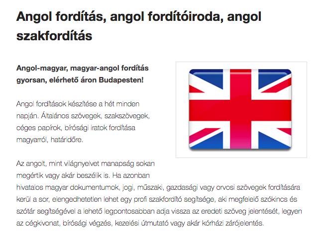 angol fordítás budapest